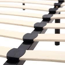 amazon com homcom queen size mattress wood slat platform bed