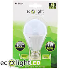 buy ecolight e27 warm white led bulbs case of 12 at home bargains