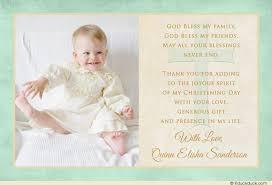 blue three photo christening thank you card polka dot