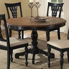 round dark wood pedestal dining table hillsdale embassy round pedestal dining table rubbed black