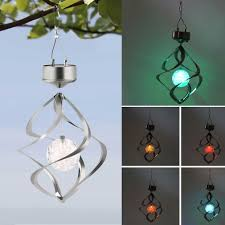 wind spinner with color changing solar led lamp a green origin