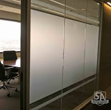 Decorative Glass Panels For Walls Decorative Etched Glass Window Vinyl For Conference Room In