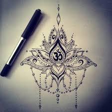 religious om symbol with beautiful so mandala lotus flower