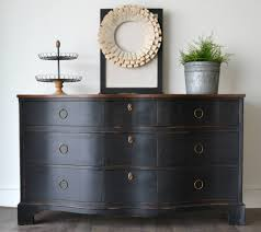Bedroom Furniture Painted With Chalk Paint Black Dresser Redo By Thefunkyjunkshop Chalkpaint Chalkyfinish