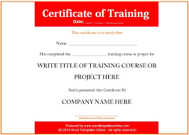 free training certificate template 6 free training certificate