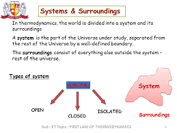 first law of thermodynamics 7 if the system does not move with a velocity and has no change in elevation