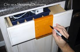 Kitchen Cabinet Installation Tools chic on a shoestring decorating how to change your kitchen
