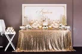 Baptism Party Decorations Kara U0027s Party Ideas Elegant Gold White Baptism Party Via Kara U0027s