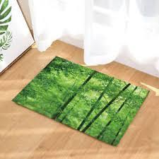 Bamboo Bathroom Rug Door Mat Bathroom Rug Bedtoom Carpet Bath Mats Rug Non Slip Green