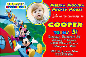 100 mickey mouse clubhouse invitation template the 25 best