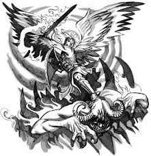 angel fights demon tattoo design hm art u0026 tattoo