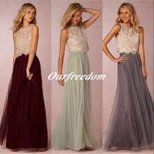 tulle skirt bridesmaid two pieces bridesmaid dresses lace bodice tulle skirt burgundy