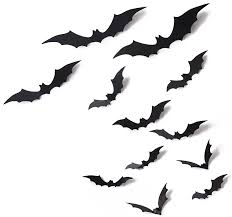amazon com 24 pcs bat cutouts 3d assorted sizes black halloween