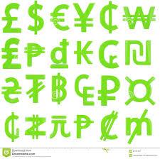 green currency symbols stock illustration image 60151832