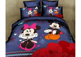 Cute Comforter Sets Queen Cute Blue Mickey And Minnie Mouse Queen Size Duvet Cover Bedding
