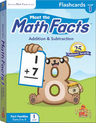 math facts meet the math facts addition subtraction flashcards level 1
