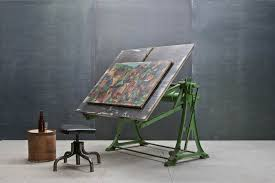 Iron Drafting Table Industrial Cast Iron Drafting Table Modern50 A Non Linear