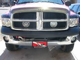 dodge grill pcwize com truckhacks hella 500 off road lighting behind the grill