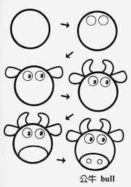 draw cow circle punch art pinterest draw animals cow and animal