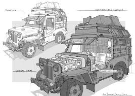 cartoon jeep drawings mercenary listening post jeep by caconymdesign on deviantart