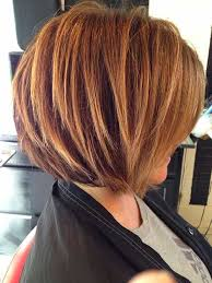 how to cut hair in a stacked bob stacked bob haircut with blonde highlights jpg hair pinterest
