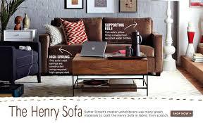 West Elm Henry Leather Sofa West Elm Henry Sleeper Sofa Www Elderbranch