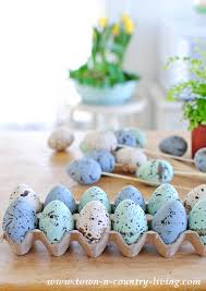 speckled easter eggs how to make speckled eggs town country living