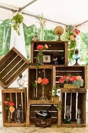 d co mariage vintage décoration vintage caisses à pommes mariage vintage
