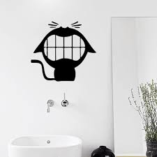 laughing cute cat vinyl wall stickers for bathroom small stuffs
