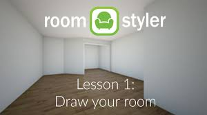 Home Design 3d Wall Height by Roomstyler Lesson 1 Draw Your Room Youtube