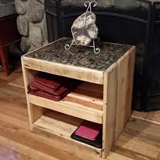 How To Build End Tables by Diy On How To Make A Pallet Table With A Coin Or Penny Top Youtube
