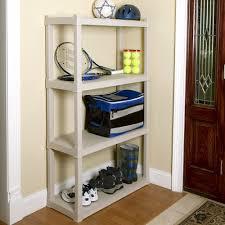 plano heavy duty 4 shelf storage unit light taupe 4 shelf for