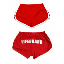 Cute Halloween Shirts For Women by Red Womens Lifeguard Shorts Halloween Costume Party U0026 Indoor