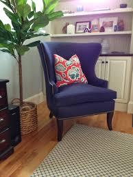 furniture excellent beige wingback recliner with dark wood legs