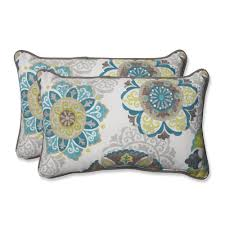 Outdoor Pillows Target by Pillow Perfect Allodala Rectangular Outdoor Throw Pillows Set Of