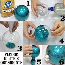 diy glitter ornaments craft ideas