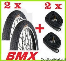 chambre à air vélo taille 2 pneus 2 chambres à air vélo bmx taille 20 x 1 95 slick noir ebay