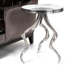z gallerie side table z gallerie antler aluminum table 249 new york interior designer