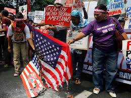 Burning A Flag Donald Trump Inauguration American Flag Burned In Philippines As
