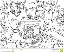 the three little pigs coloring pages coloring pages kids