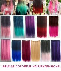 clip in hair colorful 60cm clip in hair extension uniwigs official site