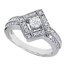 shaped engagement ring european engagement ring 0 60 carat pave diamond shaped