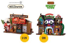 myscaryblog com department 56 vs lemax halloween villages