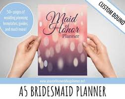 of honor planner ultimate of honor planner a5 custom wedding organizer
