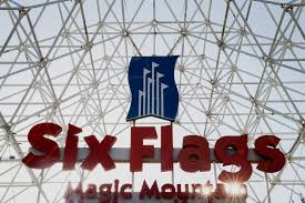 Six Flags Magic Mountain by Six Flags Pulls Down Confederate Flags Fortune Com