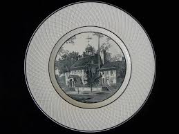 celebration plates set 6 delaware tercentenary celebration plates spode mansard