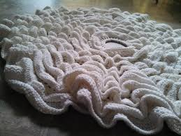 10 snowdrifts crochet tree skirt made with yarn and