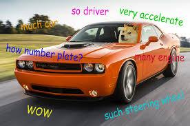 Doge Car Meme - doge challenger imgur