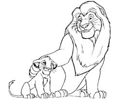pictures lion king characters kids coloring