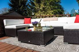 Outdoor Furniture Sectional Sofa Outdoor Rattan Wicker Sofa Sectional Patio Furniture Set